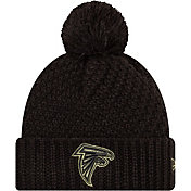New Era Women's Salute to Service Atlanta Falcons Black Pom Knit
