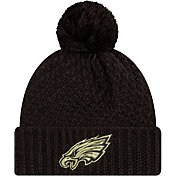New Era Women's Salute to Service Philadelphia Eagles Black Pom Knit