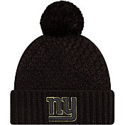 New Era Women's Salute to Service New York Giants Black Pom Knit
