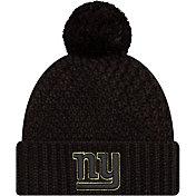 New Era Women's Salute to Service New York Giants Black Pom Knit Hat