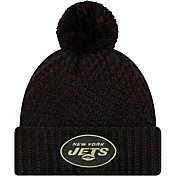 New Era Women's Salute to Service New York Jets Black Pom Knit
