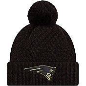 New Era Women's Salute to Service New England Patriots Black Pom Knit