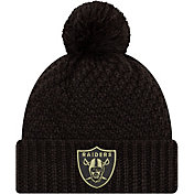 New Era Women's Salute to Service Las Vegas Raiders Black Pom Knit