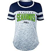 New Era Women's Seattle Seahawks Varsity Space Dye Navy T-Shirt