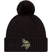 New Era Women's Salute to Service Minnesota Vikings Black Pom Knit