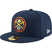 New Era Men's Denver Nuggets 59Fifty Navy Authentic Hat