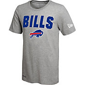 New Era Men's Buffalo Bills Grey Dri T-Shirt