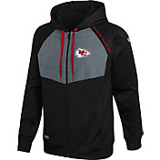 New Era Men's Kansas City Chiefs Black Long Sleeve Full-Zip Jacket