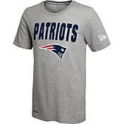 New Era Men's New England Patriots Grey Dri T-Shirt