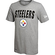 New Era Men's Pittsburgh Steelers Grey Dri T-Shirt