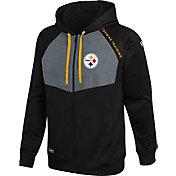 New Era Men's Pittsburgh Steelers Black Long Sleeve Full-Zip Jacket