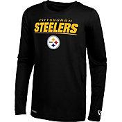 New Era Men's Pittsburgh Steelers Black Poly Long Sleeve T-Shirt