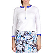 Sofibella Women's Dreamscape 3/4 Length Sleeve Shirt