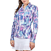 Sofibella Women's UV Feather Long Sleeve Top