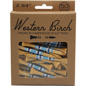 """Western Birch 2.75"""" My Boy Blue Striped Golf Tees – 50 Pack"""