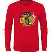 NHL Youth Chicago Blackhawks Splashin' Red Long Sleeve Shirt