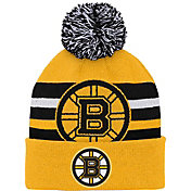 NHL Youth Boston Bruins Heritage Gold Cuffed Knit Beanie