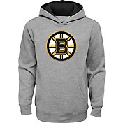 NHL Youth Boston Bruins Prime Fleece Heather Grey Pullover Hoodie