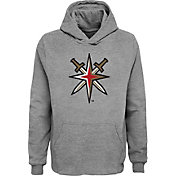 NHL Youth Vegas Golden Knights Grey Shoulder Patch Hoodie