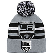 NHL Youth Los Angeles Kings Heritage Grey Cuffed Knit Beanie