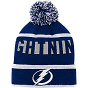 NHL Youth Tampa Bay Lightning Heritage Grey Cuffed Knit Beanie