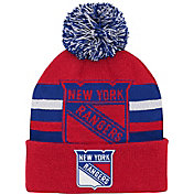 NHL Youth New York Rangers Heritage Red Cuffed Knit Beanie