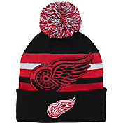 NHL Youth Detroit Red Wings Heritage Black Cuffed Knit Beanie