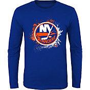 NHL Youth New York Islanders Splashin' Royal Long Sleeve Shirt