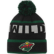 NHL Youth Minnesota Wild Heritage Black Cuffed Knit Hat