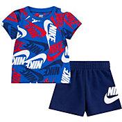 Nike Little Boys' Sportswear Toss All Over Print T-Shirt and Shorts Set