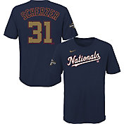 Nike Youth Washington Nationals Max Scherzer #31 Championship Gold T-Shirt