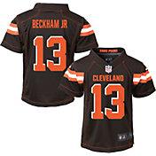 NFL Team Apparel Boys' 4-7 Replica Cleveland Browns Odell Beckham Jr. #13 Brown Jersey