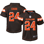 NFL Team Apparel Boys' 4-7 Replica Cleveland Browns Nick Chubb #24 Brown Jersey