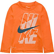 NKB Nike Little Boys' Block Dri-FIT Long Sleeve Shirt