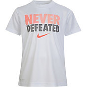 Nike Boys' Never Defeated Short Sleeve T-Shirt