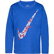 Nike Boys' Play Lines Swoosh Dri-FIT Long Sleeve T-Shirt