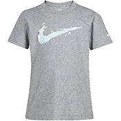 Nike Boys' Swoosh Splash Cotton Short Sleeve T-Shirt