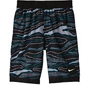 Nike Boys' Just Do It Camo Racer Volley Swim Trunks