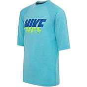 Nike Boy's Heather Sunset Logo Short Sleeve Hydroguard Shirt