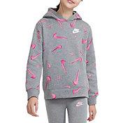 Nike Girls' Sportswear 3D Printed Hoodie