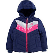 Nike Girls' Colorblock Chevron Puffer Jacket