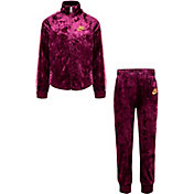 Nike Little Girls' Crushed Velour Full-Zip Jacket and Jogger Pants Set