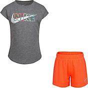 Nike Little Girls' After Glow T-Shirt and Mesh Shorts Set
