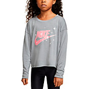 Nike Little Girls' Futura Logo Graphic Long Sleeve T-Shirt