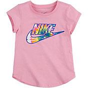 Nike Little Girls' Tie Dye Swoosh Logo T-Shirt