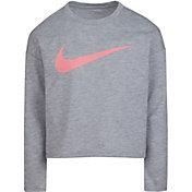 Nike Little Girls' Logo Graphic Long Sleeve T-Shirt