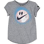 Nike Little Girls' Happy Soccer Ball Graphic T-Shirt