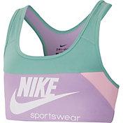 Nike Girls' Swoosh Heritage Sports Bra