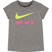 Nike Little Girls' Just Do It Swoosh Logo T-Shirt