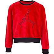 Jordan Girls' Velour Cropped Sweater